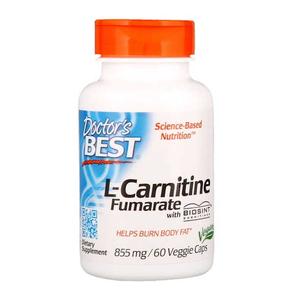 Doctor's Best, L-Carnitine Fumarate with Biosint Carnitines, 855 mg, 60 Veggie Caps