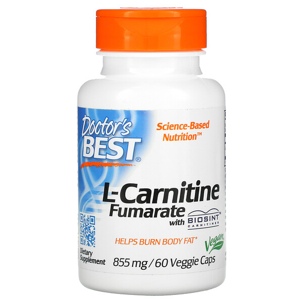 L-Carnitine Fumarate with Biosint Carnitines, 855 mg, 60 Veggie Caps