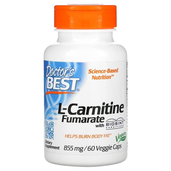 L-карнитин фумарат с карнитинами Biosint, 855мг, 60вегетарианских капсул