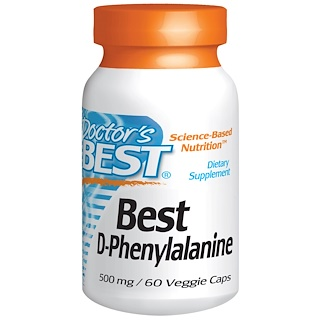 Doctor's Best, Best D-Phenylalanine, 500 mg, 60 Veggie Caps