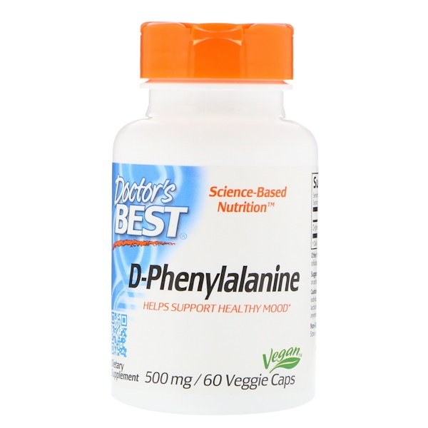 Doctor's Best, D-Phenylalanine, 500 mg, 60 Veggie Caps
