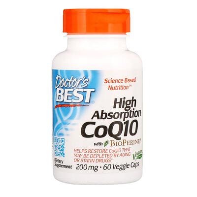 Купить Коэнзим Q10 с высокой степенью всасывания, с BioPerine, 200мг, 60растительных капсул