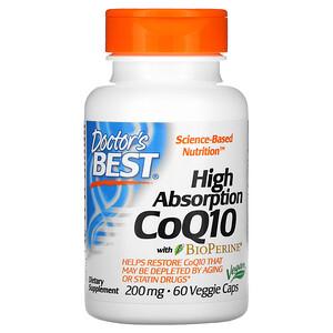 Докторс Бэст, High Absorption CoQ10 with BioPerine, 200 mg, 60 Veggie Caps отзывы
