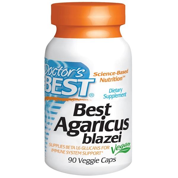 Doctor's Best, Агарик Бразильский Best, 90 вегетарианских капсул