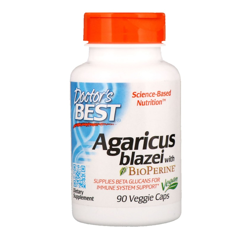 Agaricus Blazei with Bioperine, 90 Veggie Caps