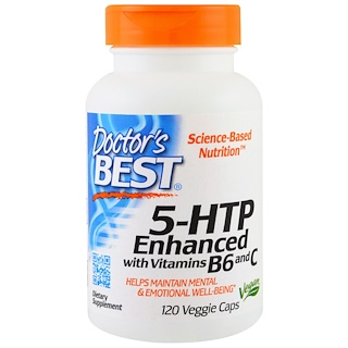 Doctor's Best, 5-HTP, Enhanced with Vitamins B6 & C, 120 Veggie Caps