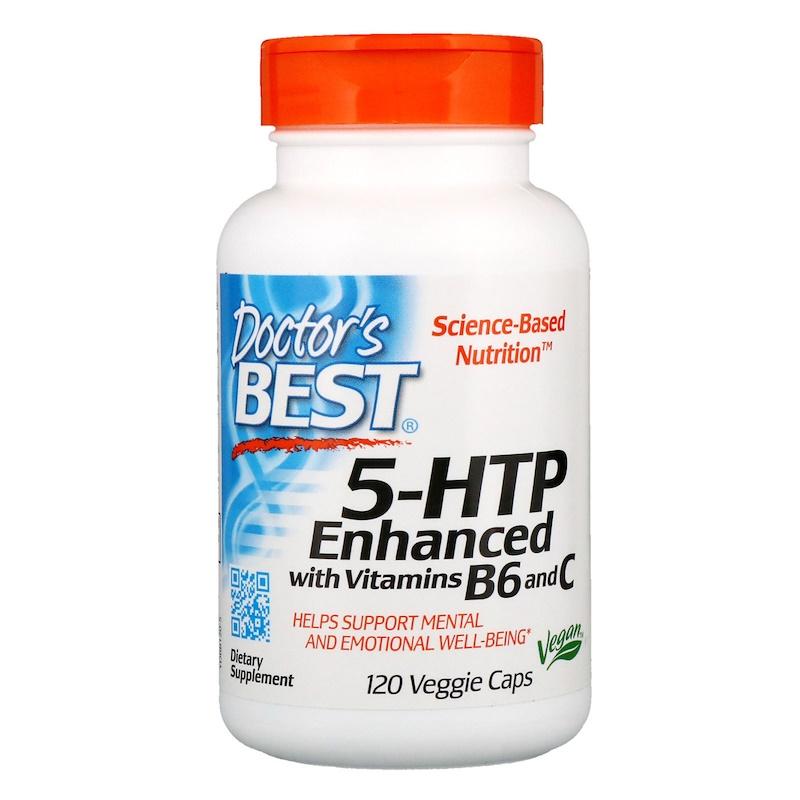 5-HTP, Enhanced with Vitamins B6 & C, 120 Veggie Caps