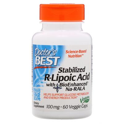 Стабилизированная R-липоевая кислота Best, 100мг, 60растительных капсул альфа липоевая кислота экстра сила 600 мг 60 растительных капсул