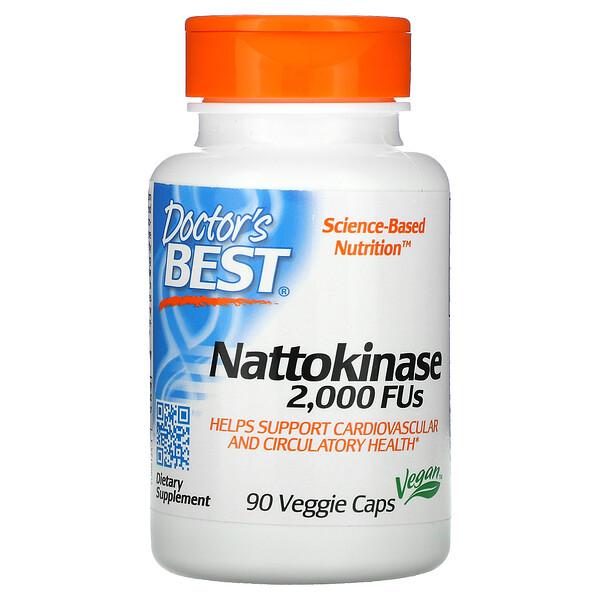 Наттокиназа, 2000FU, 90растительных капсул