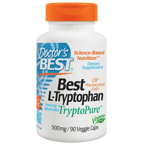 Doctor's Best, Doctor's Best, 베스트 L-트립토판, 500 mg, 90 배지캡슐