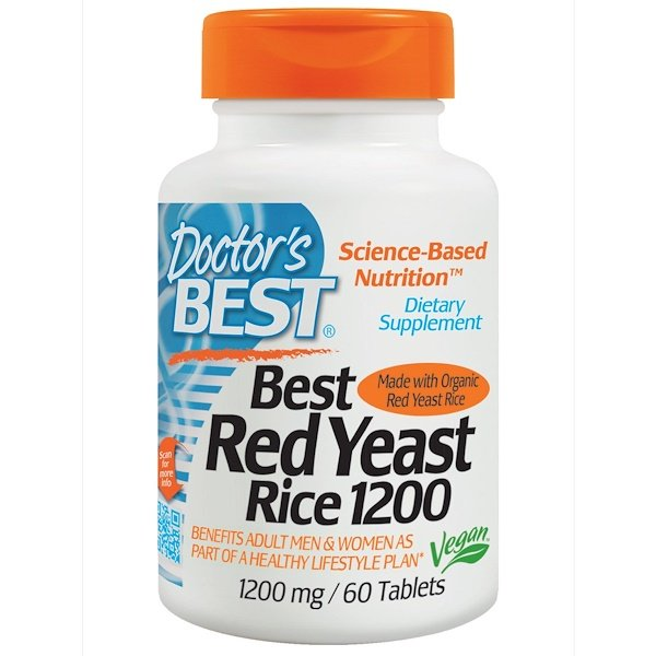 Doctor's Best, Best Red Yeast Rice, 1200 mg, 60 Tablets (Discontinued Item)
