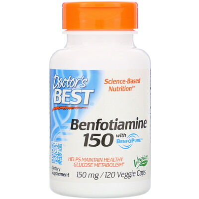 Benfotiamine 150 with BenfoPure, 150 mg, 120 Veggie Caps acetyl l carnitine 250 mg 120 veggie caps
