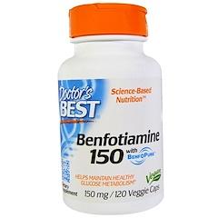 Doctor's Best, Best Benfotiamine 150, 150 mg, 120 Veggie Caps