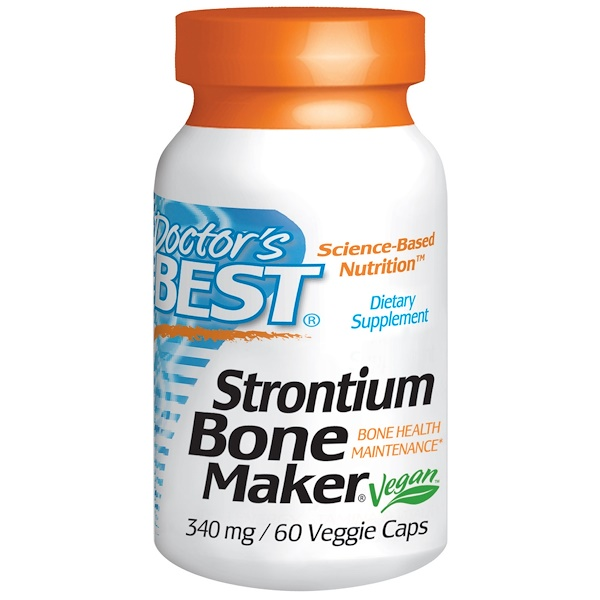 Doctor's Best, Strontium Bone Maker, 340 mg, 60 Veggie Caps (Discontinued Item)