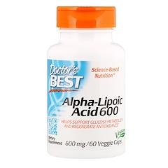 Doctor's Best, 베스트 알파 리포산, 600 mg, 60 베지 캡