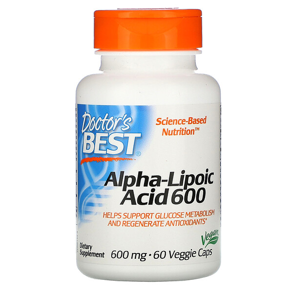 Alpha-Lipoic Acid, 600 mg, 60 Veggie Caps