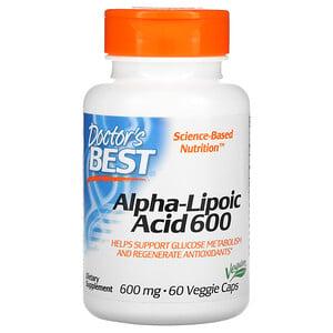 Докторс Бэст, Alpha-Lipoic Acid, 600 mg, 60 Veggie Caps отзывы покупателей