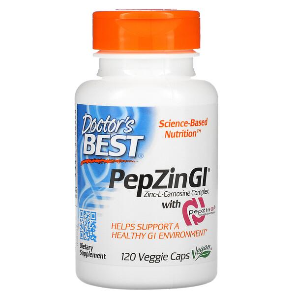 PepZinGI, Complexe zinc-L-carnosine, 120capsules végétariennes