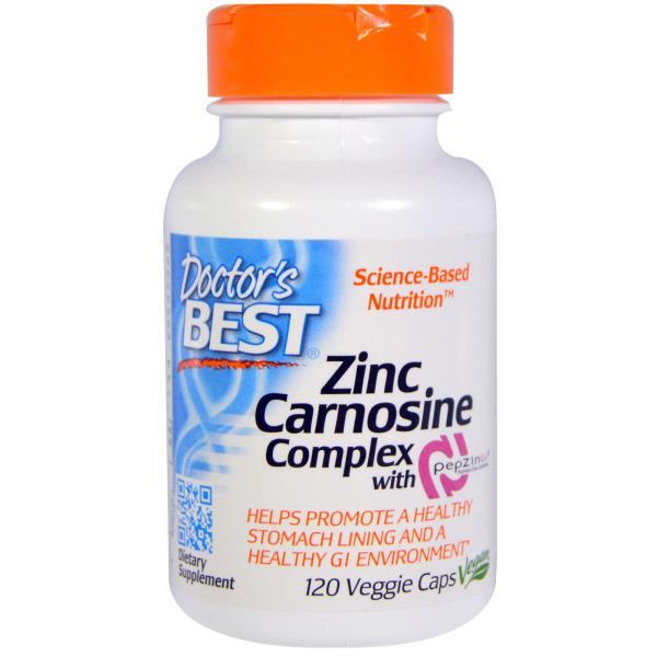 Doctor's Best, ペプジンジ(PepZin Gl)使用の亜鉛-Lカルノシン複合体