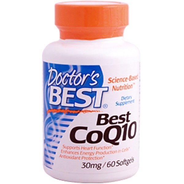Doctor's Best, Best CoQ10, 30 mg, 60 Softgels (Discontinued Item)