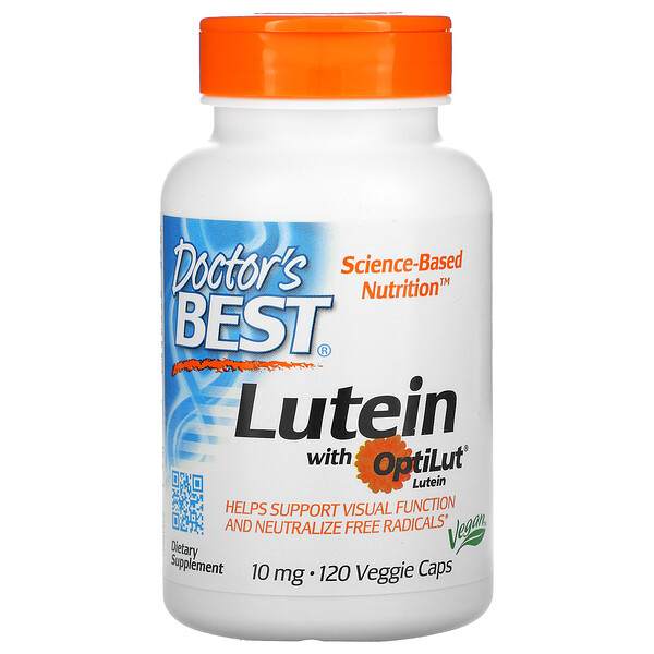 Lutein with OptiLut, 10 mg, 120 Veggie Caps
