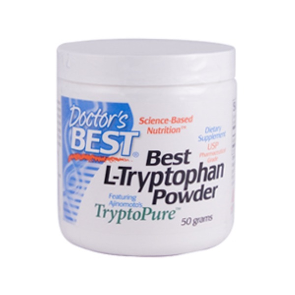 Doctor's Best, Best L-Tryptophan, Tryptopure, Powder, 50 g (Discontinued Item)