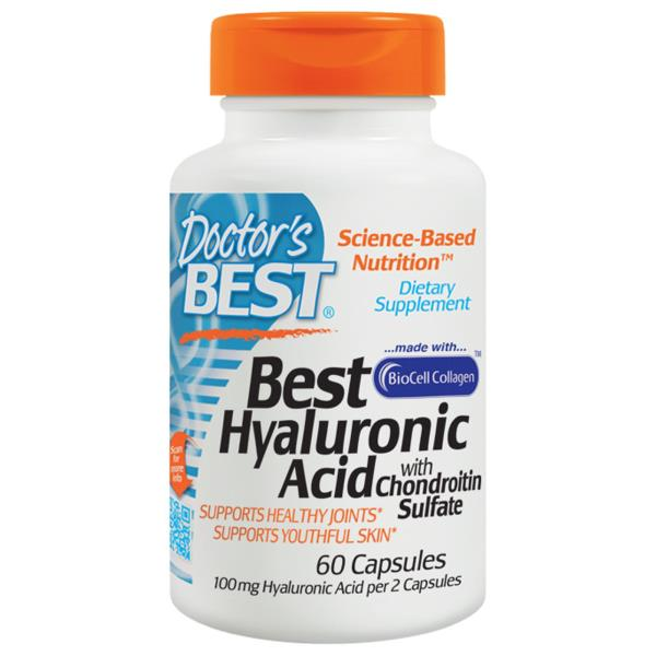 Doctor's Best, Hyaluronic Acid + Chondroitin Sulfate, 60 Gelatin Caps