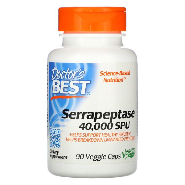 Best Serrapeptase (הסראפפטאז הטוב ביותר), 40,000 SPU,90 כמוסות צמחיות