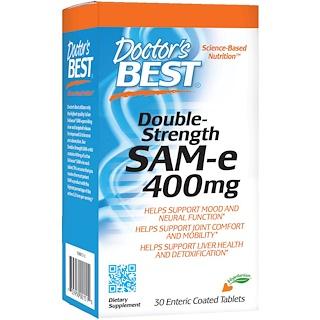Doctor's Best, 2倍増強SAM-e, 400 mg , 腸溶錠剤30錠