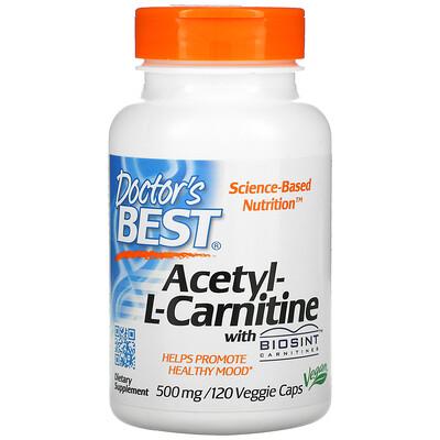 Doctors Best ацетил L-карнитин с карнитинами Biosint, 500мг, 120вегетарианских капсул