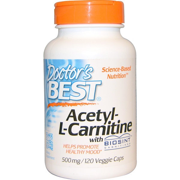 Doctor's Best, Acetyl-L-Carnitine, 500 mg, 120 Veggie Caps