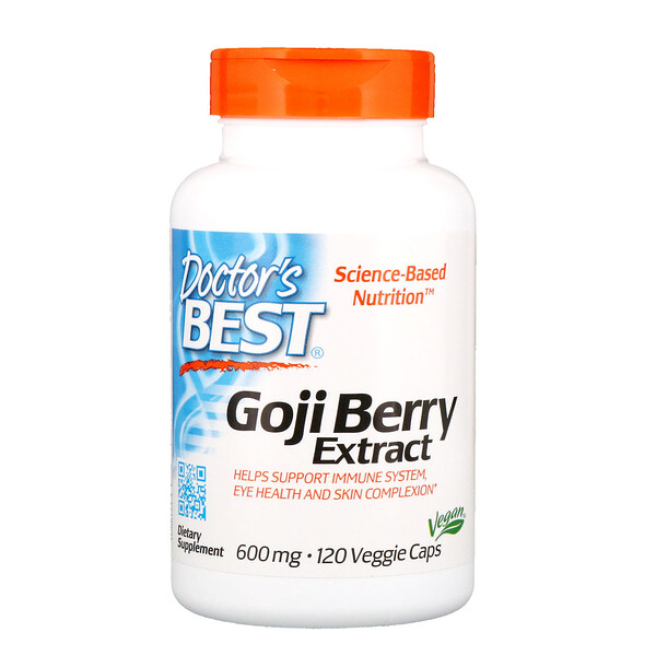Doctor's Best, Goji Berry Extract, 600 mg, 120 Veggie Caps