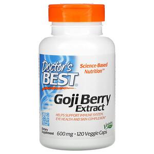 Докторс Бэст, Goji Berry Extract, 600 mg, 120 Veggie Caps отзывы