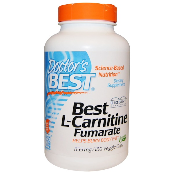 Doctor's Best, Best L-Carnitine Fumarate, 855 mg, 180 Veggie Caps