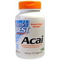 Doctor's Best, Асаи, 500 мг, 120 капсул в растительной оболочке