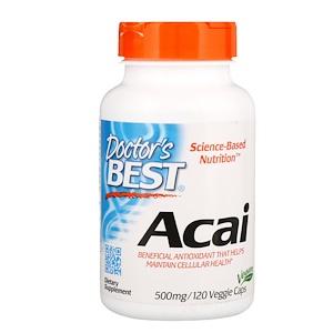 Докторс Бэст, Acai, 500 mg, 120 Veggie Caps отзывы покупателей