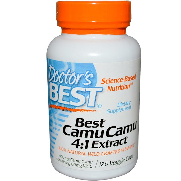 Doctor's Best, Best Camu Camu 4:1 Extract, 400 mg, 120 Veggie Caps (Discontinued Item)