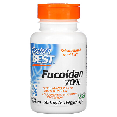 Doctor's Best Фукоидан Best 70%, 60растительных капсул