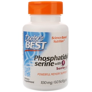 Doctor's Best, Best Phosphatidylserine with SerinAid, 100 mg, 60 Softgels