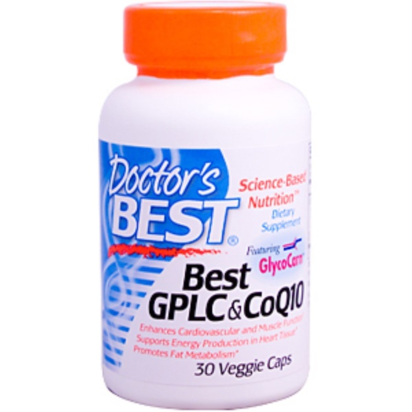 Doctor's Best, Best GPLC Glycocarn Carnitine  & CoQ10, 30 Veggie Caps (Discontinued Item)