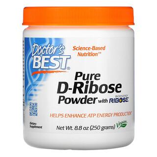 Doctor's Best, D-Ribose Puro em Pó com BioEnergy Ribose, 250 g (8,8 oz)