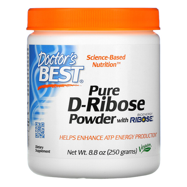 Pure D-Ribose Powder with BioEnergy Ribose, 8.8 oz (250 g)