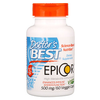 Doctor's Best, Epicor, 500 mg, 60 Veggie Caps