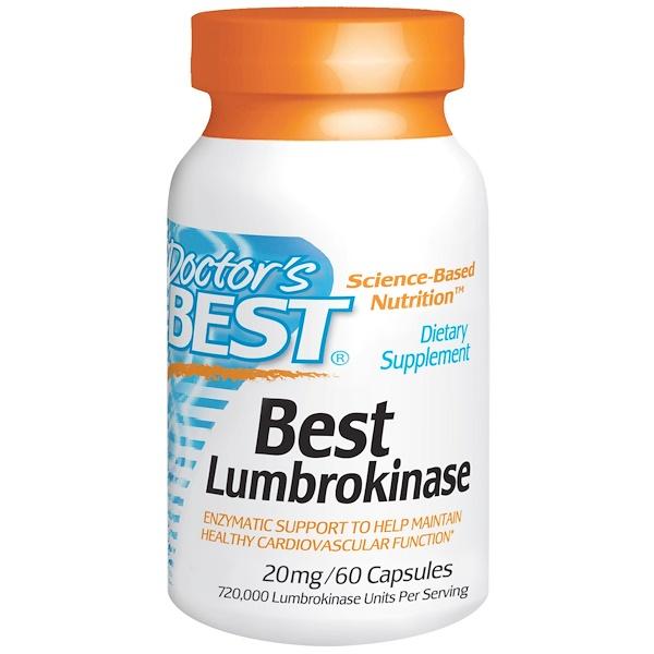 Doctor's Best, Best Lumbrokinase, 20 mg, 60 Capsules