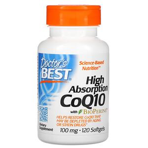 Докторс Бэст, High Absorption CoQ10 with BioPerine, 100 mg, 120 Softgels отзывы покупателей