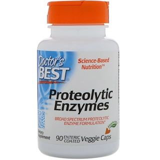 Doctor's Best, Proteolytic Enzymes, 90 Enteric Coated Veggie Caps