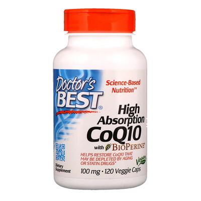 Фото - High Absorption CoQ10 with BioPerine, 100 mg, 120 Veggie Caps high absorption coq10 with bioperine 100 мг 60 мягких желатиновых капсул