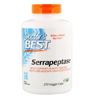 Doctor's Best, Serrapeptase, 40,000 SPU, 270 Veggie Caps