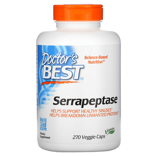 Serrapeptase, 270 Veggie Caps