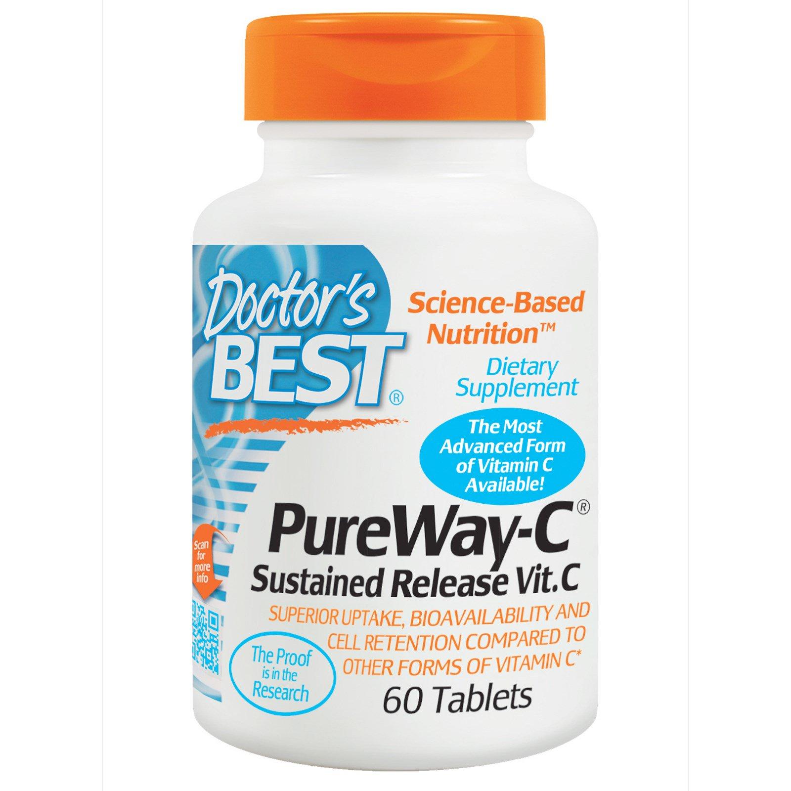 Doctor's Best, PureWay-C, Витамин С пролонгированного действия , 60 таблеток